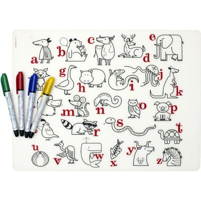 Modern-Twist Mark-mat Kid Box: Alphabet Animals + 4 Markers