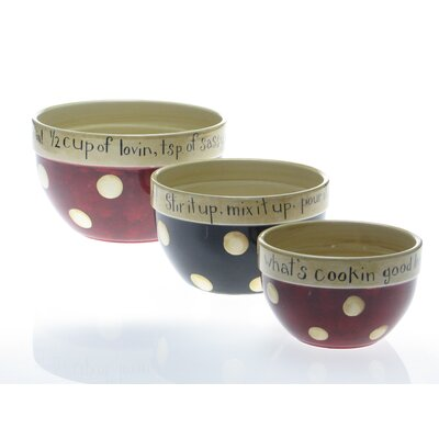 Certified International Family Table By Dan DiPaolo 3 Pieces Mixing Bowl Set