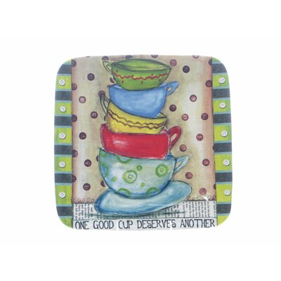 "Certified International Java Time by Lisa Kaus 12.5"" Square Platter"