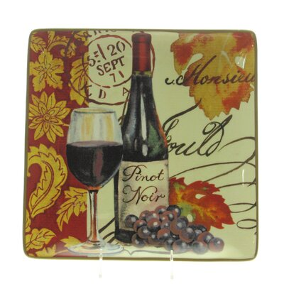 "Certified International Wine Tour by Jennifer Brinley 14.5"" Square Platter"