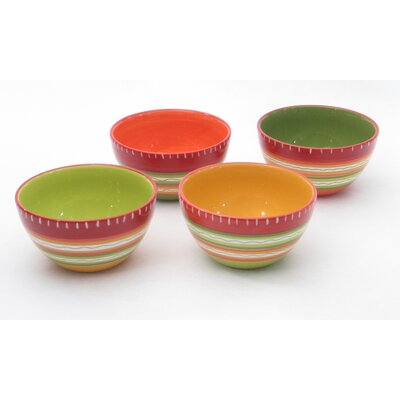 Certified International Hot Tamale Ice Cream Bowl (Set of 4)