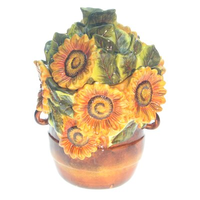 Certified International Tuscan Sunflower 3-D Cookie Jar by Tre Sorelle