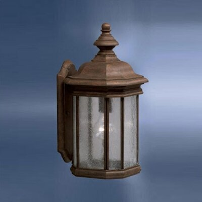 Kichler Kirkwood  Outdoor Wall Lantern in Tannery Bronze with Clear Seedy Glass