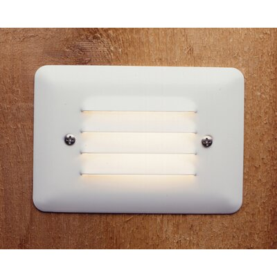 Kichler White Acrylic Lens Step Light with Louver Face