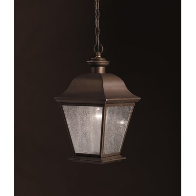 Kichler Mount Vernon  Outdoor Ceiling Pendant in Old Bronze