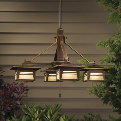 Kichler Zen Garden 4 Light Outdoor Chandelier