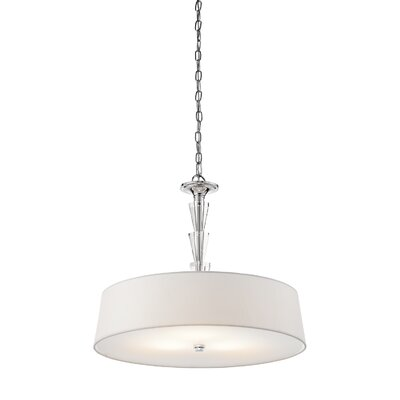 Kichler Crystal Persuasion 3 Light Drum Pendant