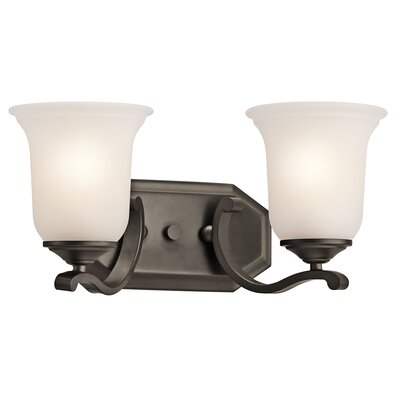 Kichler Wellington Square 2 Light Bath Vanity Light