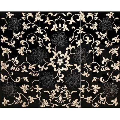 Jeffan Glamour Three Panel Flower Wall Art