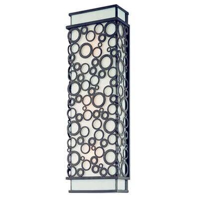 Aqua Wall Lantern in French Iron