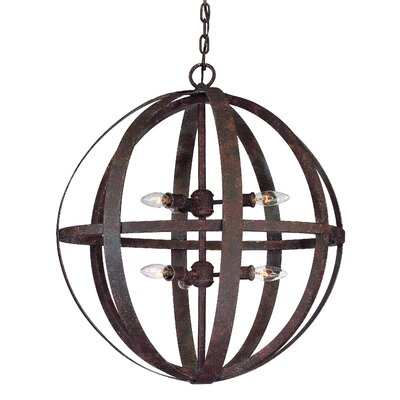 Troy Lighting Flatiron 6 Light Large Foyer Pendant