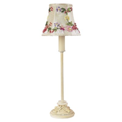 Jubilee Collection Leaf Scroll Table Lamp with a Ribbon Embroidery Shade