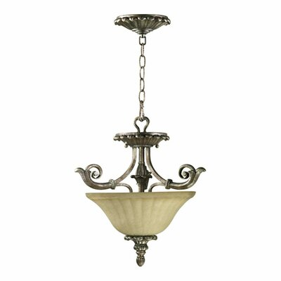 Quorum Barcelona 2 Light Convertible Inverted Pendant
