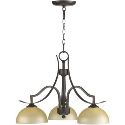 Quorum Atwood 3 Light Nook Chandelier