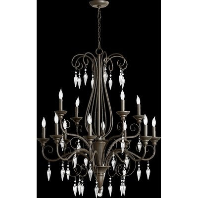 Quorum Vesta 12 Light Chandelier