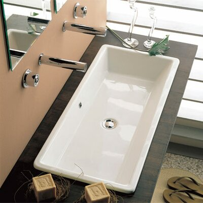 Scarabeo by Nameeks Gaia 80 Built -In Bathroom Sink in White