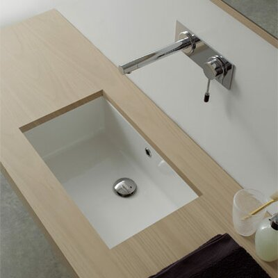 Scarabeo by Nameeks Miky 50 Undermount Bathroom Sink in White