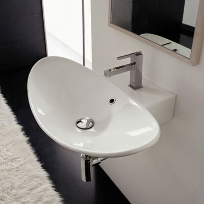 Scarabeo by Nameeks Zefiro 90/R Wall Mounted or Above Counter Bathroom Sink in White