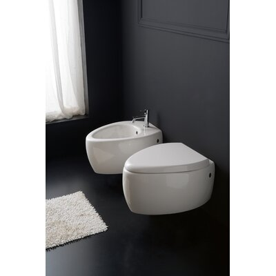 Scarabeo by Nameeks Moai Wall Mount Bidet in White