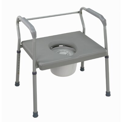 Briggs Healthcare Bariatric Extra-Wide Fixed Arm Steel Commode