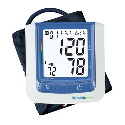 Healthsmart Select Automatic Digital Blood Pressure Monitor in Blue with AC Adapter