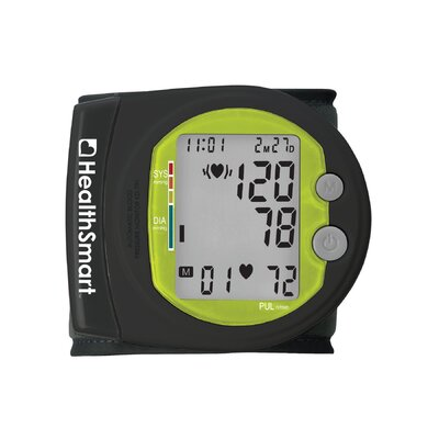 Healthsmart Sports Automatic Wrist Digital Blood Pressure Monitor in Black