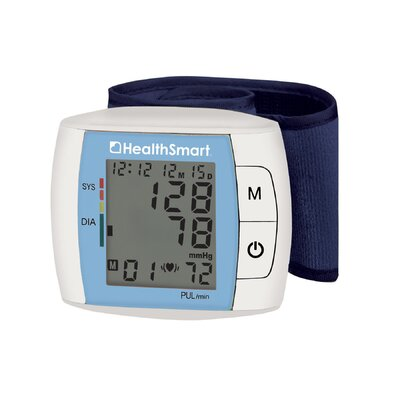 Healthsmart Standard Automatic Wrist Digital Blood Pressure Monitor in Blue