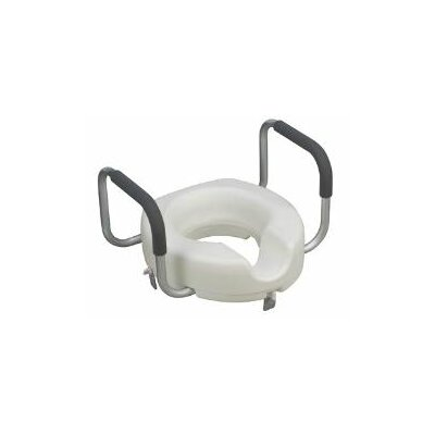 Hi-Riser Locking Raised Toilet Seat with Arms (Set of 2)