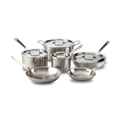d5 Stainless Brushed 10 Piece Cookware Set