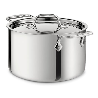 All-Clad Stainless Steel 4-Qt. Round Casserole with Lid