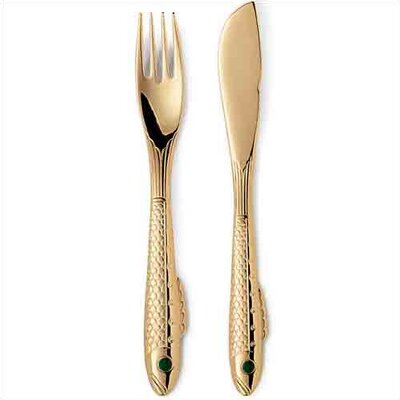 Gense Nobel Silver / Gold Flatware Collection