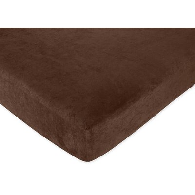 Sweet Jojo Designs All Star Sports  Fitted Crib Sheet in Solid Brown