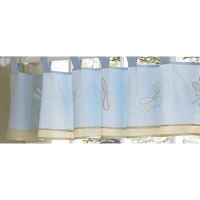 Sweet Jojo Designs Blue Dragonfly Dreams Collection Window Valance