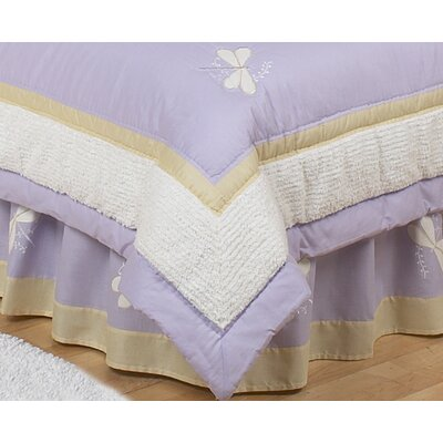 Sweet Jojo Designs Purple Dragonfly Dreams Collection Toddler Bed Skirt