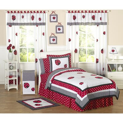 Sweet Jojo Designs Polka Dot Ladybug Kid Bedding Collection