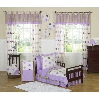 Sweet Jojo Designs Mod Dots Purple Toddler Bedding Collection