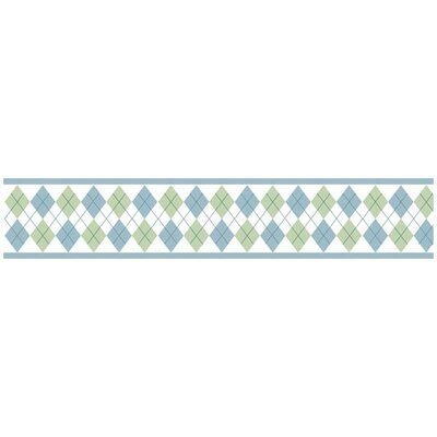 Argyle Green Blue Collection Wall Paper Border