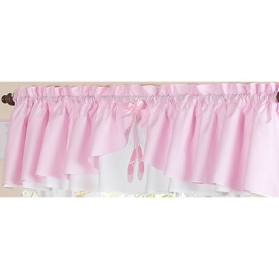 Sweet Jojo Designs Ballerina Rod Pocket Ruffled Curtain Valance