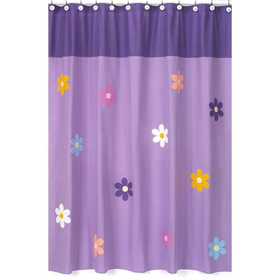 Sweet Jojo Designs Daisies Collection Shower Curtain