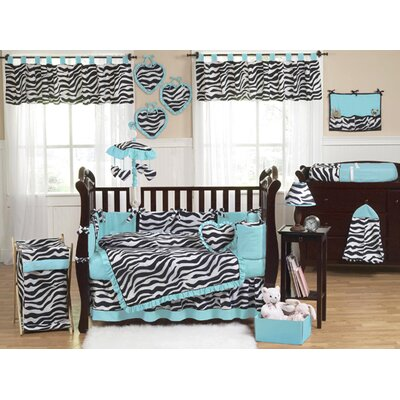 Sweet Jojo Designs Turquoise Funky Zebra Crib Bedding Collection