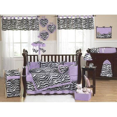 Sweet Jojo Designs Purple Funky Zebra Crib Bedding Collection