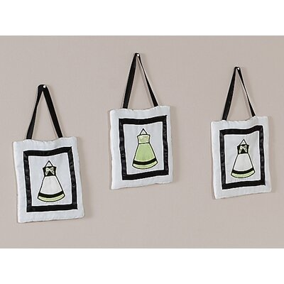 Princess Black, White and Green Collection Wall Hangings (Set of 3)