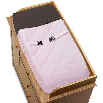 Hotel Pink and Brown Collection Changing Pad Cover