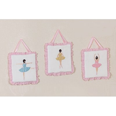 Ballerina Collection Wall Hangings (Set of 3)