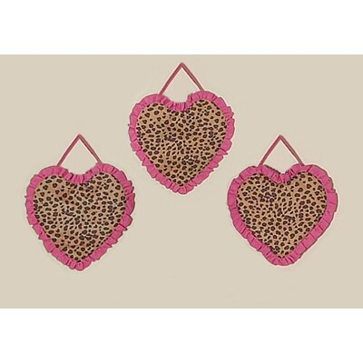 Sweet Jojo Designs Cheetah Pink Collection Wall Hangings