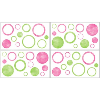 Sweet Jojo Designs Circles Pink Collection Wall Decal Stickers