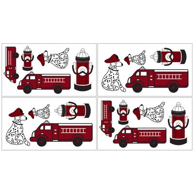 Fire Truck Collection Wall Decal Stickers