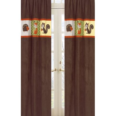 Sweet Jojo Designs Forest Friends Rod Pocket Curtain Panel Pair with Valances