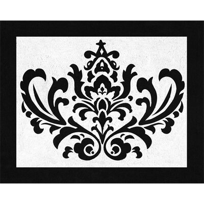 Sweet Jojo Designs Isabella Hot Pink, Black and White Collection Floor Rug