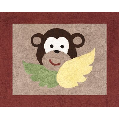 Sweet Jojo Designs Monkey Collection Floor Rug
